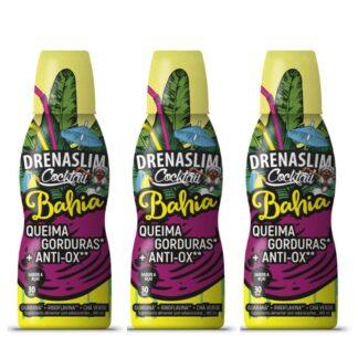 DrenaSlim Cocktail Bahia 450ml drenante é um suplemento alimentar que ajuda a queimar gorduras com agradável sabor a Açai