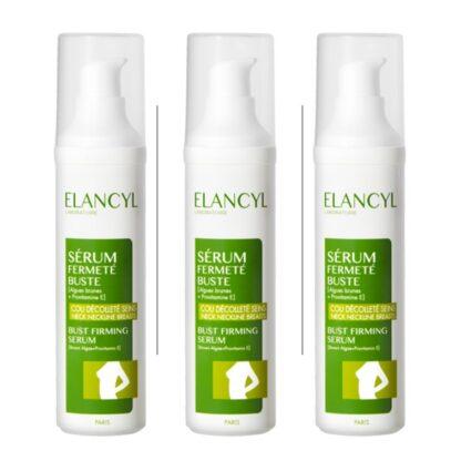 Elancyl Sérum Firmeza Busto 50ml, sérum refirmante, que reforça a firmeza e a elasticidade da pele do busto (seios, pescoço e decote).