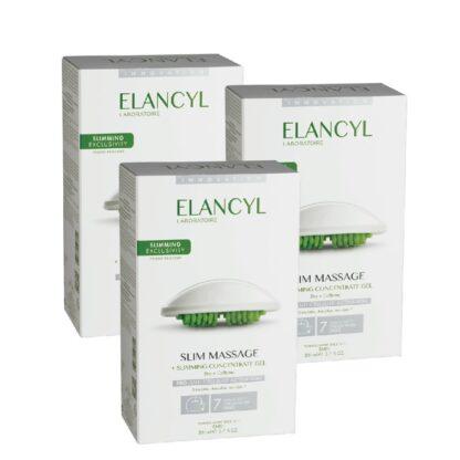 """Elancyl Slim Massage Gel Luva Massagem 200 ml 1º acessório de massagem patenteado* por Elancyl Laboratoire, inspirado diretamente na técnica profissional de """"Amassar-Rolar""""."""