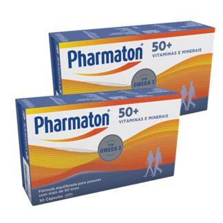 Pharmaton 50+ é um multivitamínico completo e equilibrado com vitaminas, minerais, ómega 3 (EPA e DHA),