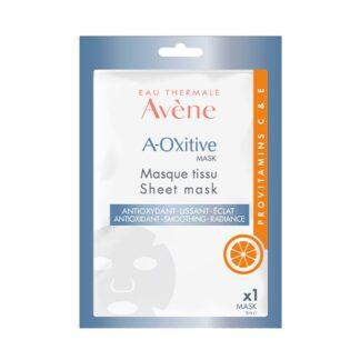 """Avène A-Oxitive Máscara de Tecido 18ml, um verdadeiro gesto SOS, esta máscara de tecido com um efeito de """"segunda pele"""" s"""