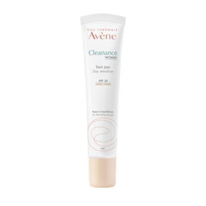Avene Cleanance Women Cuidado Dia com Cor 40ml,um produto de cuidado diurno corretivo para pele adulta mista ou oleosa, com tendência a imperfeições.