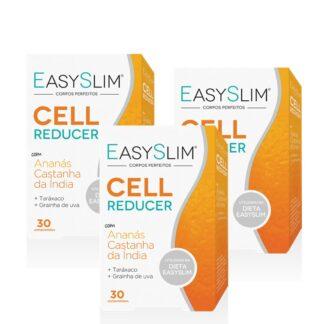 Easyslim Cell Reducer,é um suplemento alimentar constituído por extratos secos de Ananás, Taráxaco, Grainha de Uva e Castanheiroda-