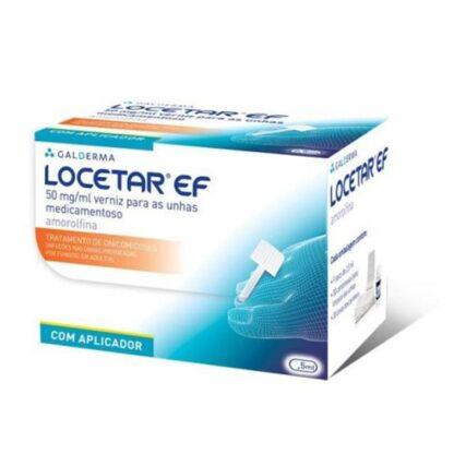 Locetar 50 mg/ml 5 mL + 30 compressas + 10 espátulas+ 30 limas, medicamento indicado para o tratamento de onicomicoses