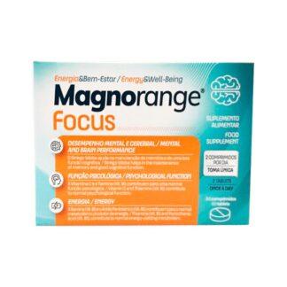 Magnorange Focus 60 Comprimidos, suplemento alimentar rico em Magnésio,