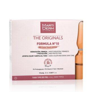 Martiderm The Originals Formula Nº10 HD Color Tauch SPF30 10 Ampolas oferece eficácia, proteção e cor num só gesto.