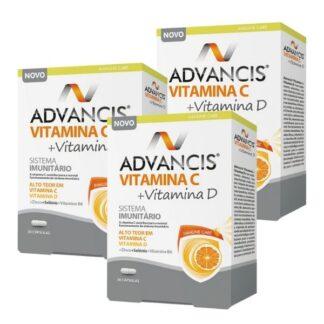 Advancis Vitamina C + Vitamina D é um suplemento alimentar com uma fórmula criada com um conjunto de nutrientes reconhecidos pelos seus benefícios