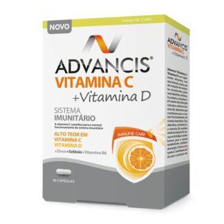 Advancis Vitamina C Vitamina D 30 Cápsulas Pharmascalabis