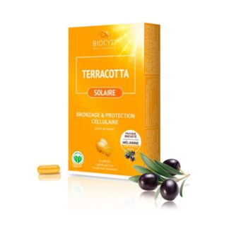 Biocyte Terracotta Solaire 30 Comprimidos, é o primeiro suplemento de proteção solar com melanina pura
