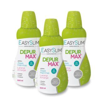 Easyslim Depur Max é um suplemento alimentar cuja composição promove a eliminação da retenção de líquidos,