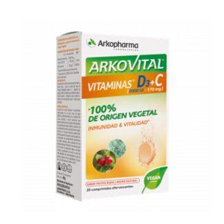 Arkovital Vitamina D3 + C 20 Comprimidos Efervescentes