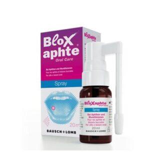Bloxaphte Spray Bucal 20ml,é adequado para o tratamento direcionado de aftas e lesões inflamatórias da mucosa oral e lesões da boca